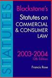 Statutes on Commercial and Consumer Law, 2003/2004, , 0199259550