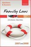 Family Law 2007-2008, Barton, Chris and Booth, Penny, 0199299560