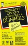 QR/Microsoft Office 4 for Windows for Dummies, Lowe, Doug, 1568849583