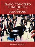 Piano Concerto Highlights for Solo Piano, Classical Piano Sheet Music, 0486449580
