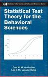 Statistical Test Theory for the Behavioral Sciences, De Gruijter, Dato N. M. and Van Der Kamp, Leo J. Th, 1584889586