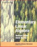 Elementary Linear Algebra with Applications, Anton, Howard and Rorres, Chris, 0471669598