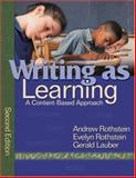 Writing as Learning 9781412949613