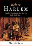 Before Harlem : The Black Experience in New York City Before World War I, Sacks, Marcy S., 081223961X