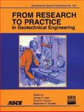 From Research to Practice in Geotechnical Engineering, Schmertmann, John H., 0784409625