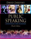 Public Speaking : Strategies for Success, Books a la Carte Plus MySpeechLab CourseCompass, Zarefsky, David, 0205509649