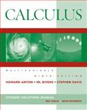 Calculus : Multivariable, Anton, Howard and Bivens, Irl C., 0470379642