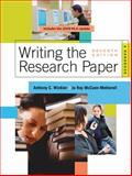 Writing the Research Paper 2009 : A Handbook, Winkler, Anthony C. and McCuen-Metherell, Jo Ray, 0495799653