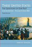 These United States Vol. 2 : The Questions of Our Past, Concise Edition, Unger, Irwin, 0132299674