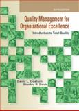 Quality Management for Organizational Excellence : Introduction to Total Quality, Goetsch, David L. and Davis, Stanley, 0135019672