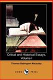 Critical and Historical Essays, Thomas Babington Macaulay, 1406529680