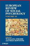 European Review of Social Psychology, Stroebe, Wolfgang and Hewstone, Miles, 0471899682