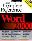 Word 2000 : The Complete Reference, Weverka, Peter and Reid, David A., 0072119691