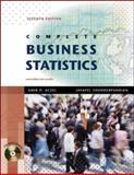 Complete Business Statistics with Student CD, Aczel, Amir D. and Sounderpandian, Jayavel, 0077239695
