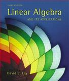 Linear Algebra and Its Applications, Lay, David C., 0201709708