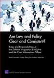 Are Law and Policy Clear and Consistent?, Daniel Gonzales and Carolyn Wong, 0833049704