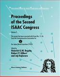 Proceedings of the Second ISAAC Congress : Volume 2: This Project Has Been Executed with Grant No. 11-56 from the Commemorative Association for the Japan World Exposition (1970), , 1461379717