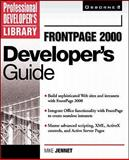 FrontPage 2000 Developer's Guide, Jennet, Mike, 0072119721