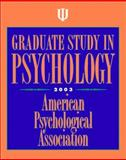 Graduate Study in Psychology 2003, American Psychological Association Staff, 1557989729