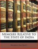Memoirs Relative to the State of Indi, Warren Hastings, 1141739739