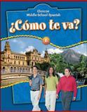 ¿Cómo Te Va?, Schmitt, Conrad J. and McGraw-Hill-Glencoe Staff, 0078769752