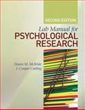 Lab Manual for Psychological Research, McBride, Dawn M. and Cutting, John Cooper, 1412979765