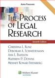 The Process of Legal Research, Kunz, Christina L., 0735569770