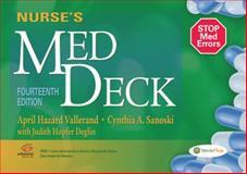 Nurse's Med Deck, April Hazard Vallerand and Cynthia A. Sanoski, 0803639783