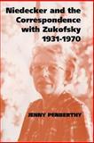 Niedecker and the Correspondence with Zukofsky, 1931-1970 9780521619790