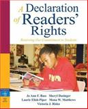 A Declaration of Readers' Rights : Renewing Our Commitment to Students, Risko, Victoria J. and Elish-Piper, Laurie, 0205499791