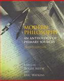 Modern Philosophy : An Anthology of Primary Sources, Ariew, Roger, 0872209792