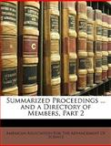 Summarized Proceedings and a Directory of Members, Part, , 1148829830