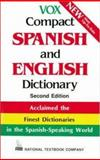 Vox Compact Spanish and English Dictionary, National Textbook Company Staff and Vox Staff, 0844279854