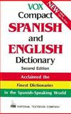 Vox Compact Spanish and English Dictionary : English-Spanish/Spanish-English, National Textbook Company Staff and Vox Staff, 0844279862