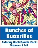 Bunches of Butterflies Coloring Book Double Pack (Volumes 1 And 2), Various, 1492979872