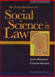Social Science in Law, Monahan, John, 1587789876