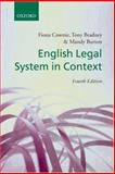 English Legal System in Context, Cownie, Fiona and Bradney, Anthony, 0199289883