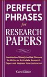 McGraw-Hill's Concise Guide to Writing Research Papers, Ellison, Carol, 0071629890