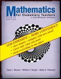 Mathematics for Elementary Teachers : A Contemporary Approach, Musser, Gary L. and Peterson, Blake E., 0470279915