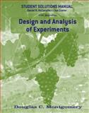 Design and Analysis of Experiments, Student Solutions Manual, Montgomery, Douglas C., 0470169915