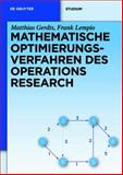 Mathematische Optimierungsverfahren des Operations Research, Gerdts, Matthias and Lempio, Frank, 3110249944