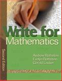 Write for Mathematics, Rothstein, Evelyn and Lauber, Gerald, 1412939941
