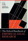 The Oxford Handbook of Empirical Legal Research, Cane, Peter and Kritzer, Herbert, 019965994X