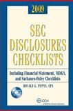 Sec Disclosures Checklist 2009 Edition, Pippin CPA, Ronald G., 0808019945