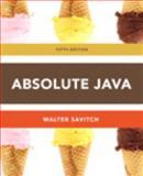 Absolute Java, Savitch, Walter, 0132989964