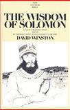 The Wisdom of Solomon : A New Translation with Introduction and Commentary, David Winston, 0300139993