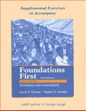 Supplemental Exercises to Accompany Foundations First : Sentences and Paragraphs, Kirszner, Laurie G. and Mandell, Stephen R., 0312459998