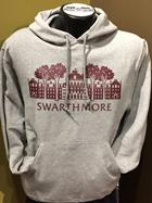 "Image for the Jerzees 50/50 Gray Hood ""Parrish Hall"" ""Swarthmore""  product"