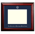 Image for the Diploma Frame 8.5x11 Classic Mahogany Navy Mat  product