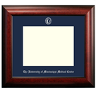 Image for the Diploma Frame 8.5x11 Satin Mahogany Navy Mat  product